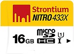 Strontium 16GB 65MBPS Class10 Nitro MicroSD Card UHS-1