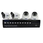 DISVU high Resolution 4 Channel NVR kit (4 Cameras 1 NVR 1 Mouse)
