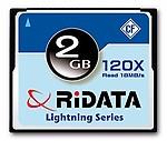 Ridata 120x Lightning Series 2GB MLC Compact Flash Memory Card
