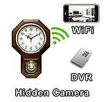 AGPtek KhuFiya Operation WiFi Pendulum Clock Hidden Camera Spy Camera with Live Video Viewing
