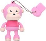 Microware Monkey Pink Shape Designer 8GB Pen Drive