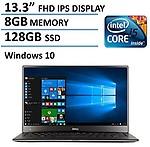 Dell XPS 13 13.3-Inch (Intel Core i5-5200U Processor, 8GB RAM, 128GB SSD,Backlit Keyboard, Windows 10,FHD IPS Display)