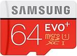 SAMSUNG Evo Plus 64 GB MicroSDXC Class 10 80 MB/s Memory Card