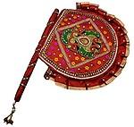Deep Cotton Decorative Hand Fan (28 cm x 3 cm x 33 cm, Deep6)