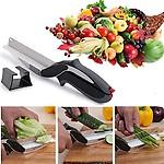 Shopo's 2-in-1 Knife & Cutting Board Scissors Cleaver Cutter Tool