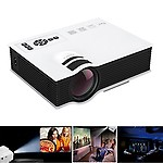 Play White and Black Multimedia Portable HD Projector