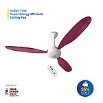 Superfan Super X1 Pink 1200 mm Ceiling Fan (Low Power Consumption 35 Watts)