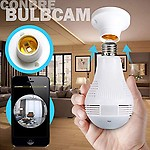 MAKECELL V380 Pro Fisheye 360° Panoramic Wireless CCTV Camera and Smart LED Bulb with Bulb Holder - Supports 64Gb Sd Card