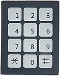 DC 12V 3x4 12 Key Matrix Membrane Switch Keypad Keyboard 76x60x0.8mm