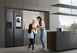 Samsung 657L Inverter 2020 SpaceMax Family HUB Side By Side Refrigerator ( Matt,RS74T5F01B4/TL)