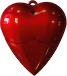 Microware 16GB Red Plastic Heart Shape Designer Pendrive