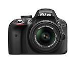 Nikon D3300 Digital SLR Camera with 18-55mm 55-200mm Lens,