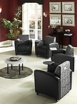 OFM InterPlay Series Upholstered Guest / Reception Chair, Nickel/ Bronze Tablet