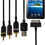 AV and USB Cable For Samsung Galaxy Tab P1000
