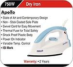 Inalsa Apollo 750-Watt Dry Iron