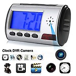 AGPtek Genuine SmartHomes Mini Detective SPY CAM Digital Alarm Clock Hidden Camera DVR CCTV Motion Detector