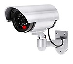 TOKEZO Dummy Security CCTV Fake Bullet Camera with Flashing Red LED IR Wireless Camera