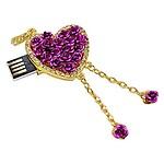 Microware 16GB Purple Heart Shape Designer Pendrive