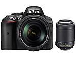 Nikon D5300 Combo With 18-140 Lens+ 55-200 F/4-5.6G Lens, black