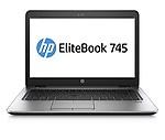 "HP Elitebook 745 G4 14"" Notebook, Windows, AMD A12 2.1 GHz, 8 GB RAM, 256 GB SSD, AMD Radeon R7, Silver (1FX53UT#ABA)"