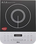 Pigeon Brio-2100W Induction Cooktop(Silver, Push Button)