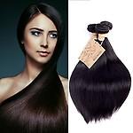 Human Hair 3 Bundles 10 12 14in 300g Straight 7A Grade Brazilian Virgin Remy Human Hair Weaves Extensions Natural Black by MONIKAHAIR