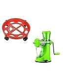 Kepptal Hand Juicer for Fruits Manual Juicer Machine for Fruit and Vegetables & LPG Cylinder Trolley with Wheels Gas Bottle Trolley LPG Cylinder Stand (27x7.5cm)