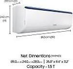 Samsung 1.5 Ton 3 Star Split AC (AR18RV3JHMC, Alloy Condenser)