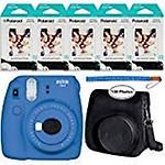 Fujifilm Instax Mini 9 Cobalt Festival Pack Instant Camera