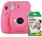 Fujifilm Instax Mini 9 Flamingo Pink with 20 Shots film Instant Camera