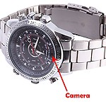 AGPtek Spy Wrist Watch Camera Hidden Video/Audio Recording, 4GB Memory
