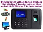 Alfa Mart ™ Biometric Fingerprint Based Time & Attendance System Machine USB Plug & Play