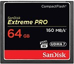 SanDisk Extreme Pro 64 GB Compact Flash UHS Class 3 160 MB/s Memory Card
