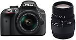 Nikon D3300 DSLR Camera With Sigma 70 - 300 mm F4-5.6 DG Macro for Nikon Digital SLR Lens