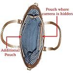 AGPtek for Jasoos Ladies Handbag Spy Camera with 16GB Internal Memory, Crystal Clear Audio and Video Recording