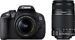 Canon EOS 700D (Body with EF S18 - 55 mm IS II and EF S55 - 250 mm IS II) DSLR Camera