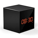 AGPtek WL01 WiFi Enabled Clock with Hidden Camera & SD Card Slot for All Phones