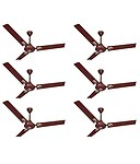 Activa 48 Galaxy-1 Ceiling Fan Brown 5 Star - Pack Of 6
