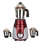 Rotomix 600watt Mixer Grinder with 3 Stainless Steel Jar (Red MA2019)