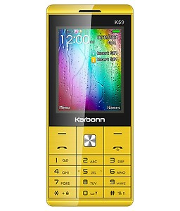 Karbonn K59 Dual Sim - Yellow & Black price in India.