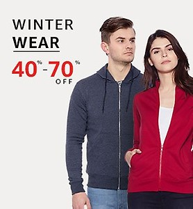 40% - 70% off on Winter Wear + 75 back with Amazon Pay