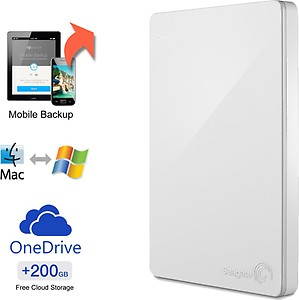 Seagate Backup Plus Slim 2TB Portable External Hard Drive & Mobile Device Backup (Red) price in India.