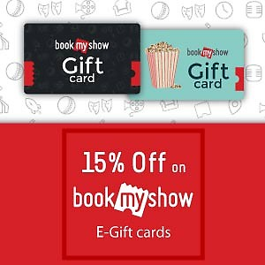15% OFF on BookMyShow E-Gifts