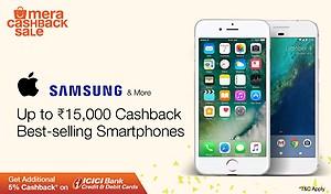 Upto 15000 cashback on smart phones @paytmmall