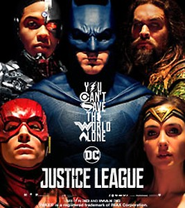 50% Cashback Upto Rs.150 on 2 Justice League Movie Tickets