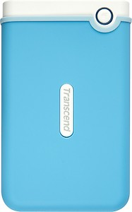 Transcend StoreJet 2.5 inch 1 TB Auto-Backup Drive (Light Blue) price in India.