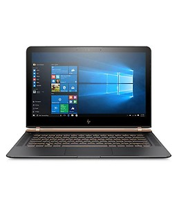 "HP Spectre 13-v122tu (Y4G64PA) (Core i7 (7th Gen)/8 GB/512 SSD/33.78 cm (13.3"")/Windows 10 Pro 64) (Black & Golden) price in India."