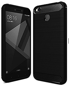 CELLBELL® Rugged Armor Back Cover for Xiaomi Redmi 4-Midnight Black