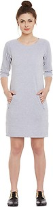 Miss Chase Women's Shift Grey Dress