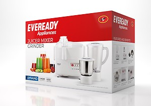 Eveready Dynamo 450-Watt Juicer Mixer Grinder (White) price in India.